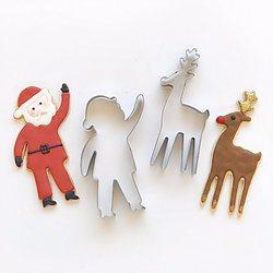 Reindeer & Santa Cookie Cutter Set - Happy Wish Company