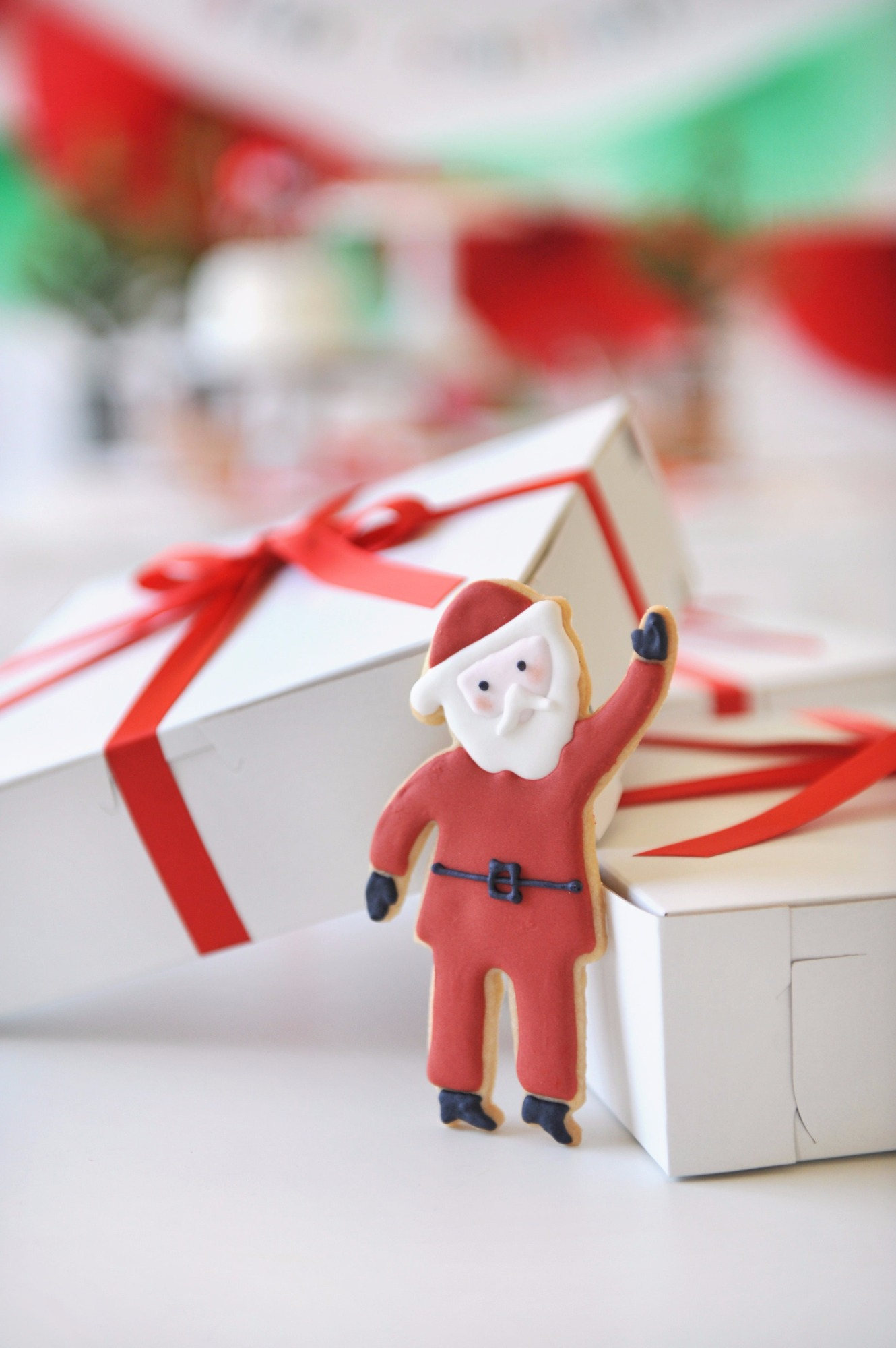 Cookie Boxes from Holly Jolly Party by Happy Wish Company   Black Twine