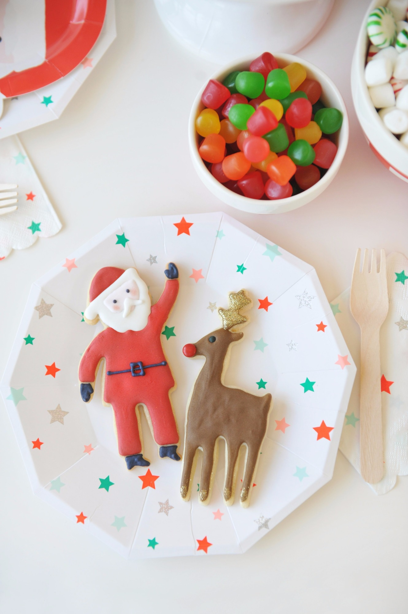 Cookies and Plates from Holly Jolly Party by Happy Wish Company | Black Twine