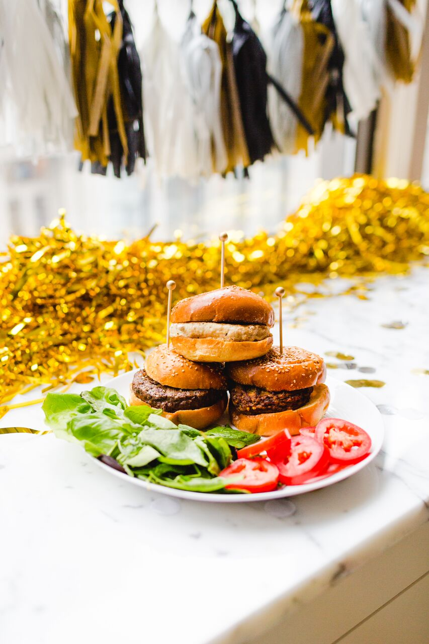 Sliders for New Year's Eve Party