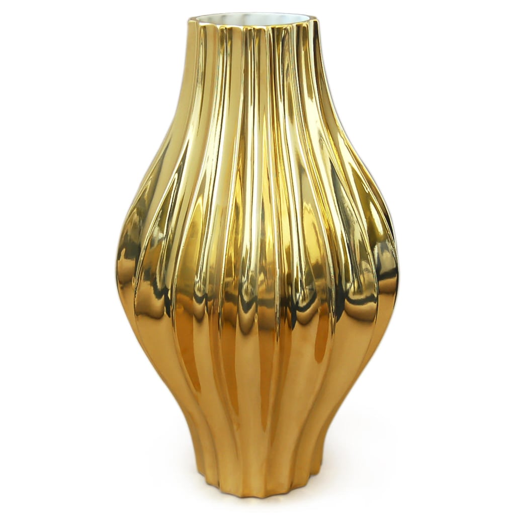 Metallic Giant Belly Vase by Jonathan Adler