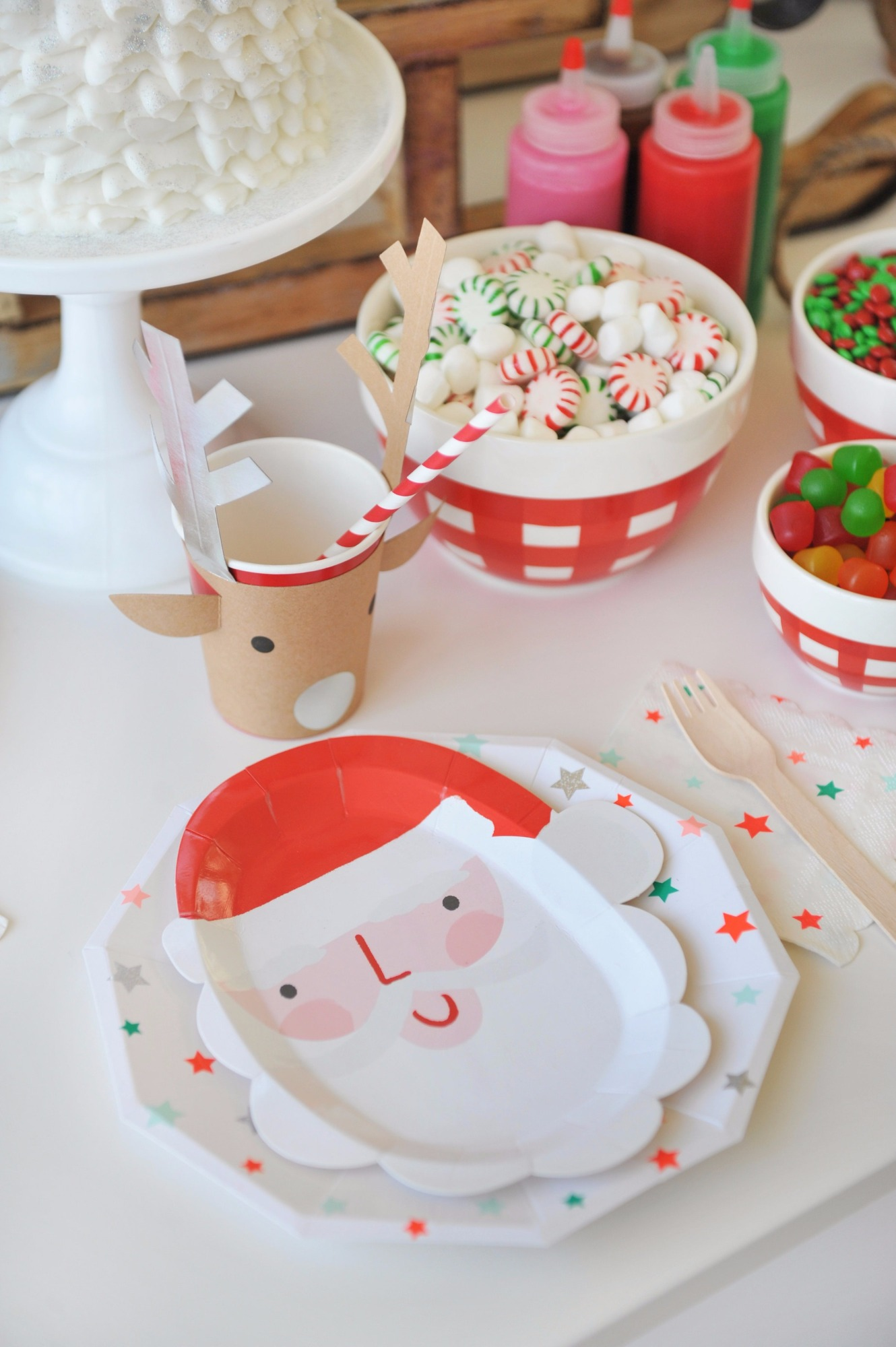 Plates and Candy from Holly Jolly Party by Happy Wish Company | Black Twine