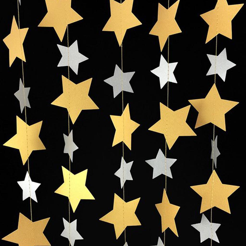 Silver & Gold Star Garland