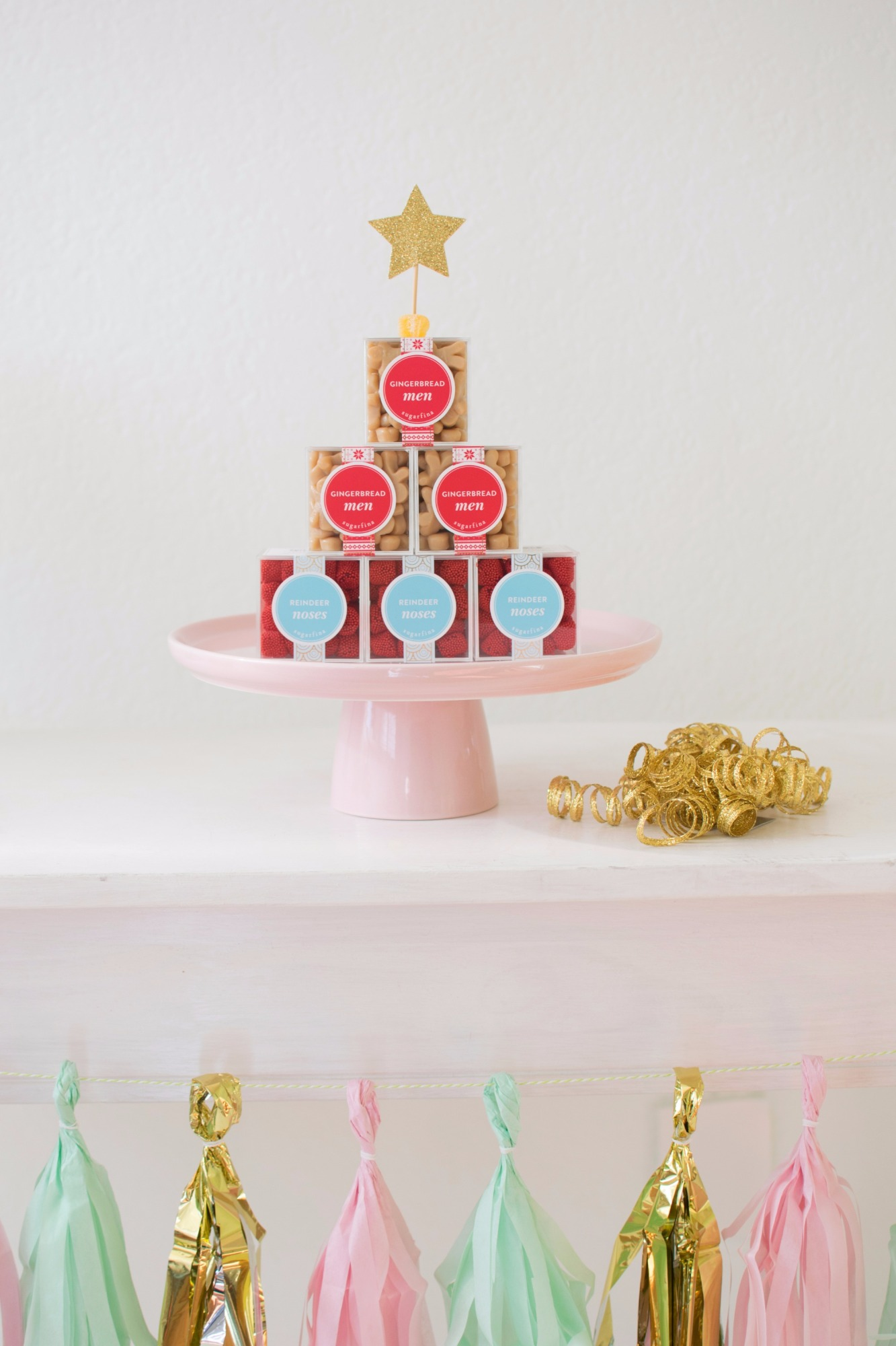 Sugarfina Candy from Holiday Cookie Decorating Party by Twinkle Twinkle Little Party | Black Twine