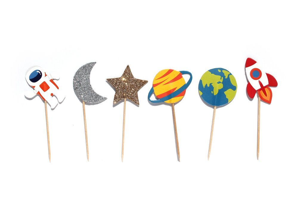 Cupcake Toppers - Trip to the Moon - Merrilulu