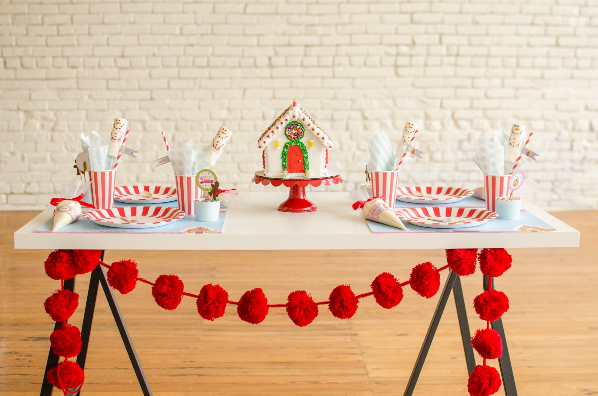 Tablescape from Cookies for Santa Party by Mint Event Design | Black Twine