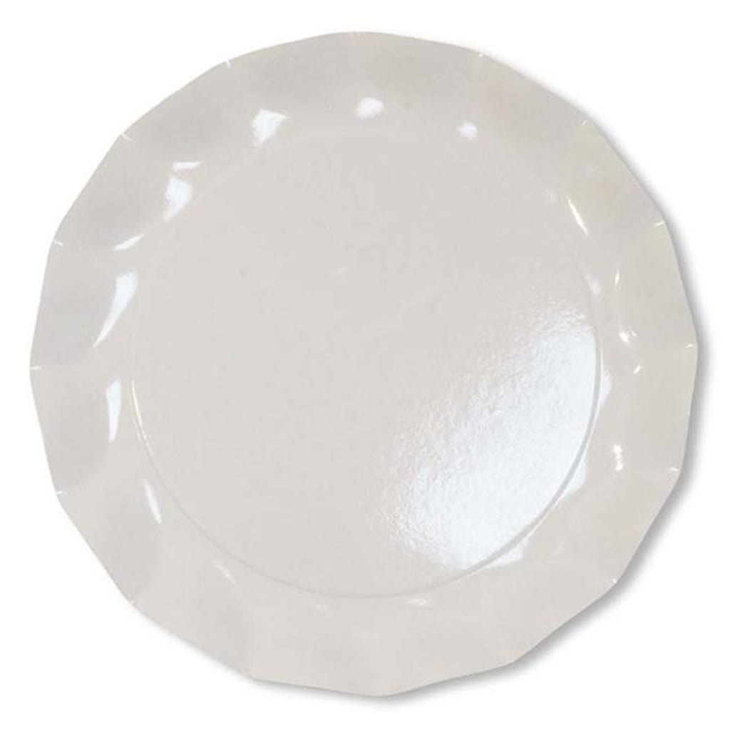 WHITE PETALO CHARGER PLATES by Sophistiplate