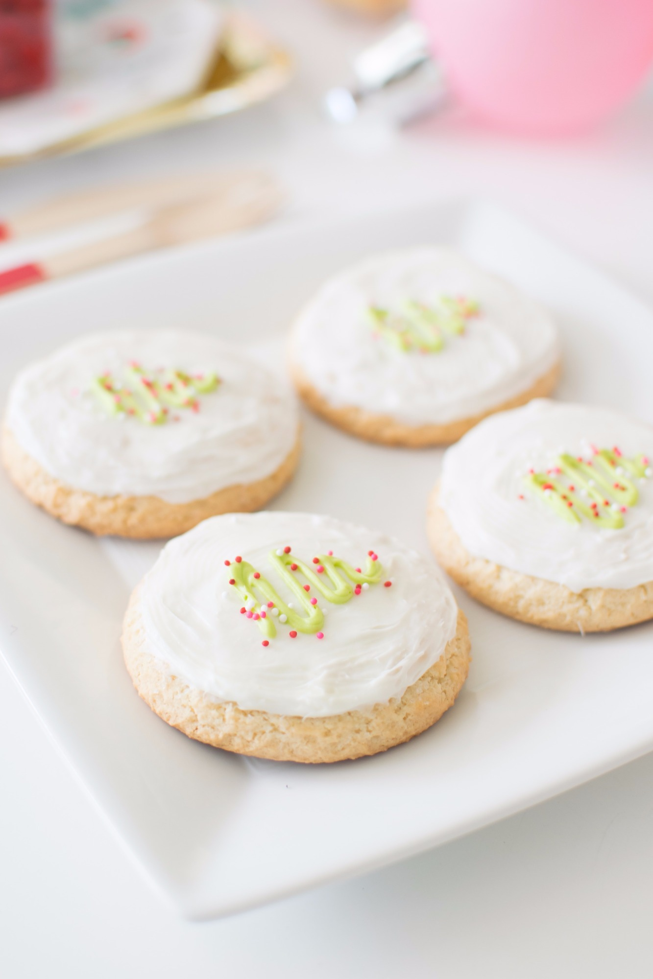 Christmas Tree Cookies from Holiday Cookie Decorating Party by Twinkle Twinkle Little Party   Black Twine