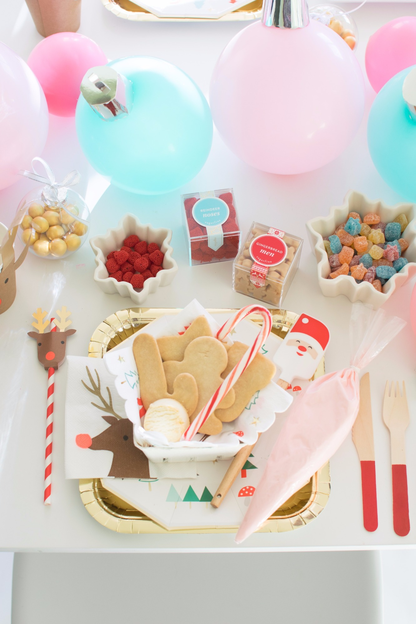 Cookies and Candy from Holiday Cookie Decorating Party by Twinkle Twinkle Little Party | Black Twine