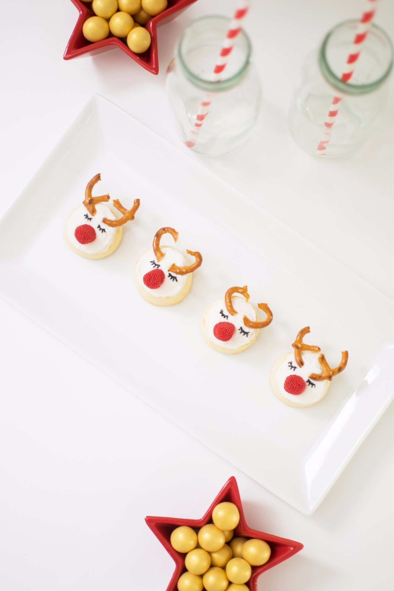 Reindeer Cookies from Holiday Cookie Decorating Party by Twinkle Twinkle Little Party | Black Twine