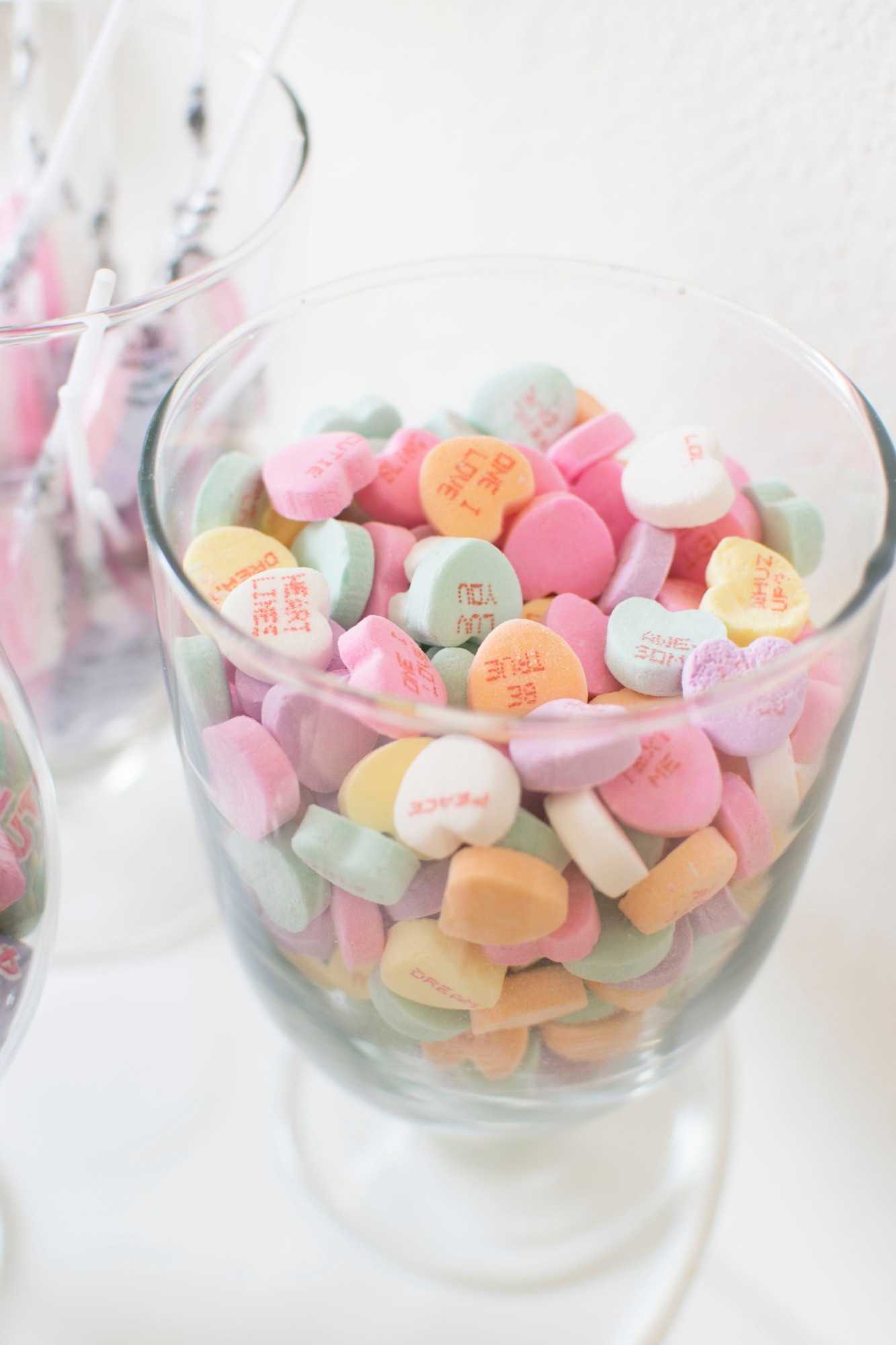 Conversation Hearts Candy from Conversation Hearts Party styled by Twinkle Twinkle Little Party | Black Twine