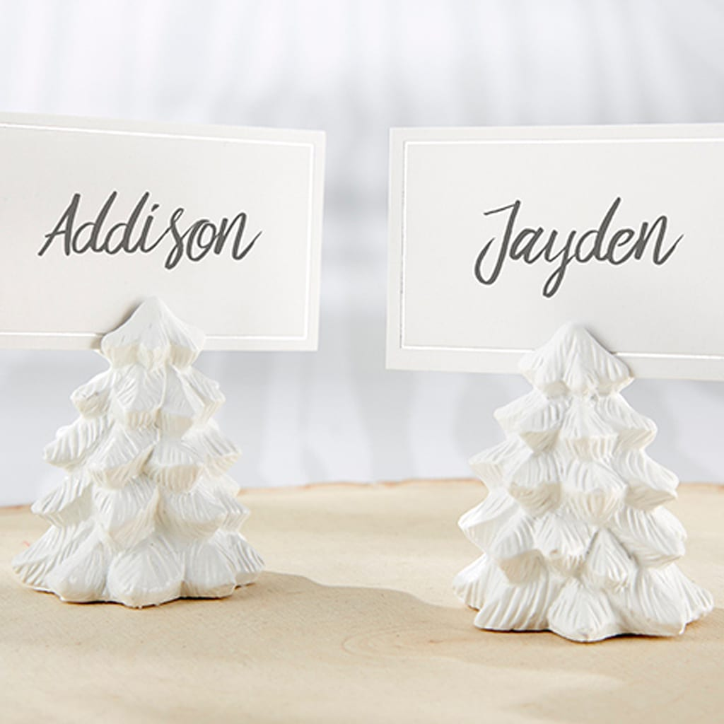 WHITE PINE TREE PLACE CARD HOLDERS (SET OF 6) by Kate Aspen
