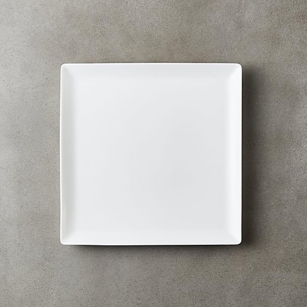 tuck white square salad plate - CB2