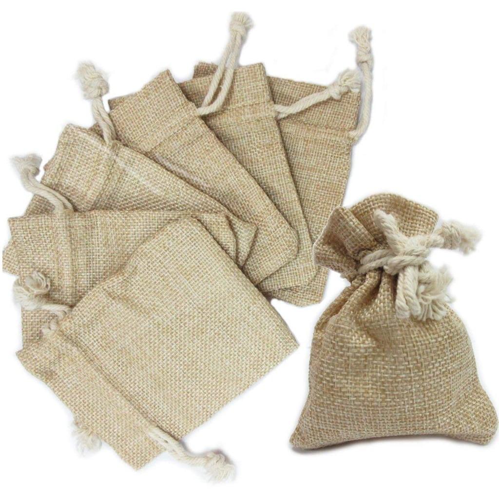 burlap favor bags for Football Party by BellaGrey Designs