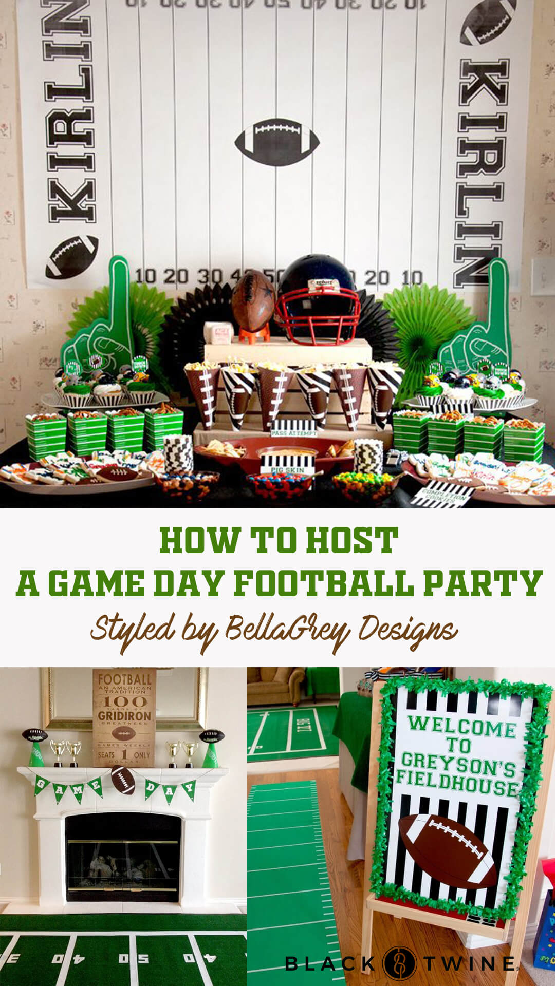 Football Party by BellaGrey Designs | Black Twine