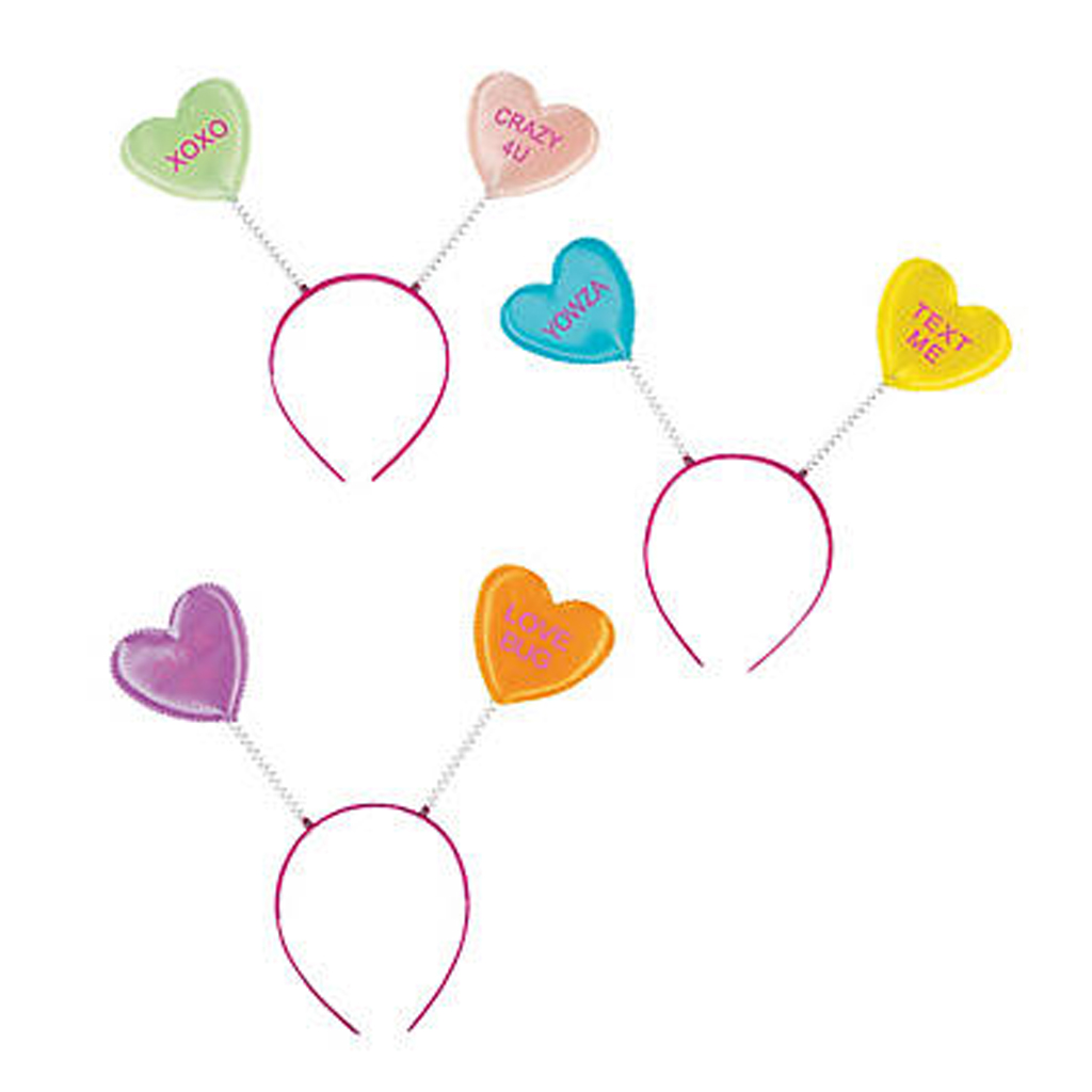 Conversation Hearts Head Boppers from Oriental Trading