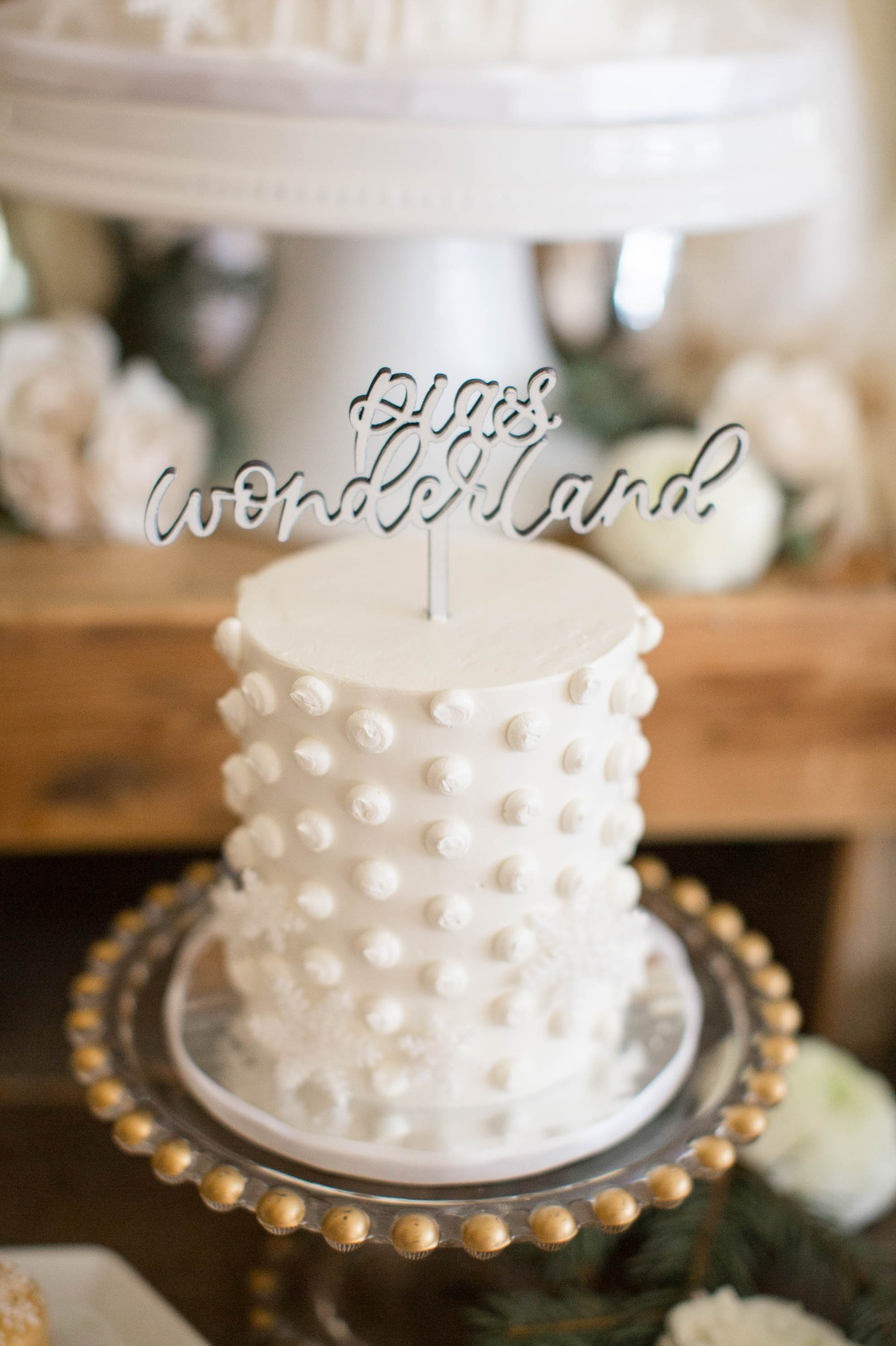Cake from Snowy Birthday Soiree Styled by Deets & Things | BlackTwine