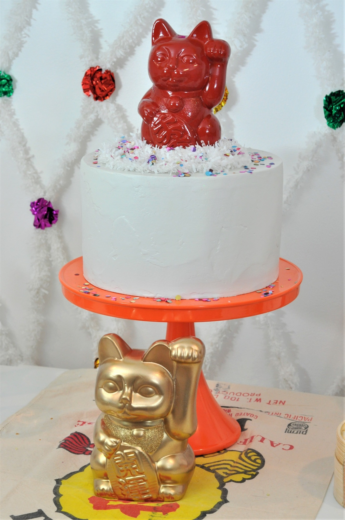 Cake from Lucky Cat Chinese New Year Party by Fern & Maple | Black Twine