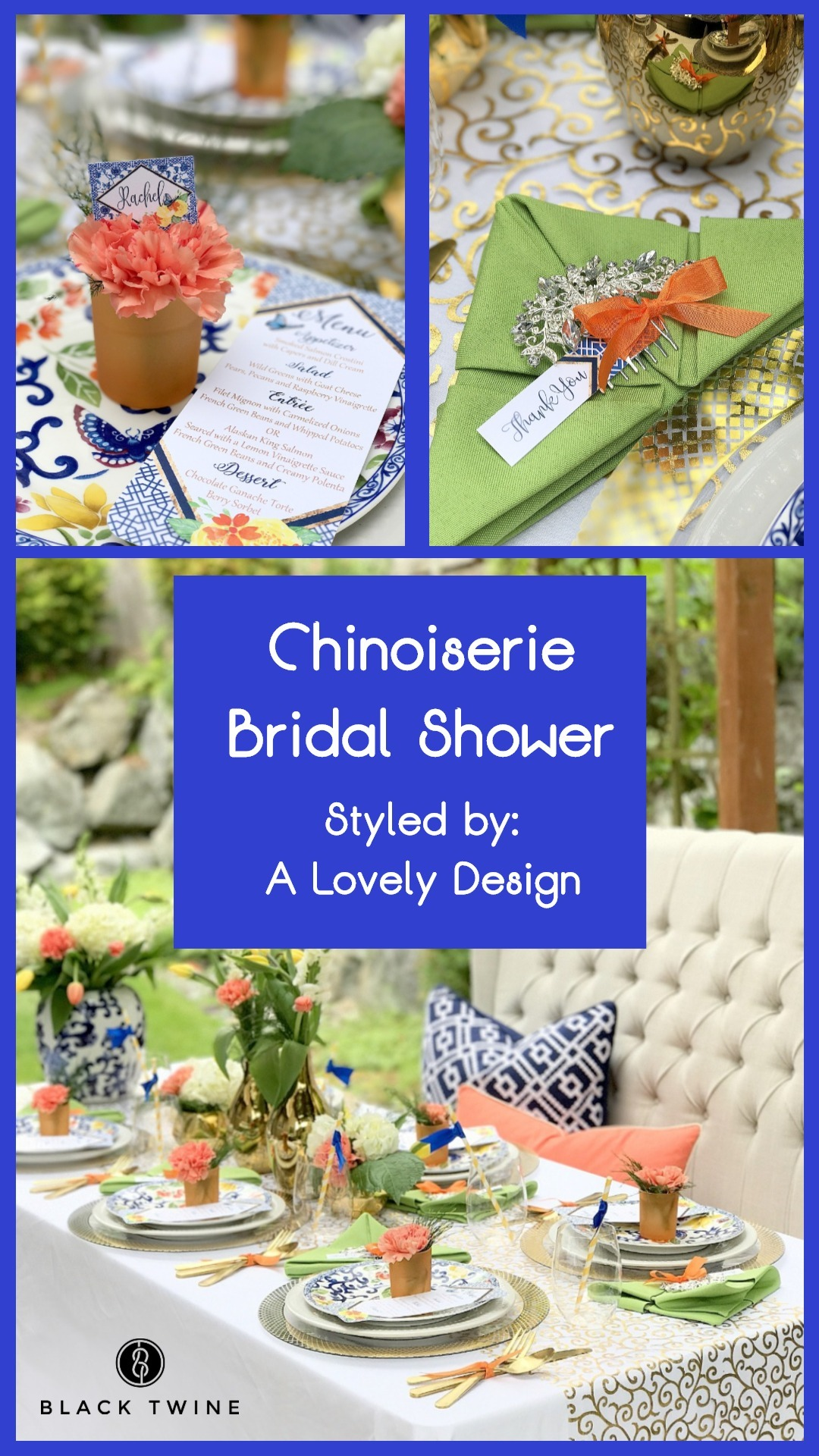 Chinoiserie Bridal Shower Styled by A Lovely Design | Black Twine