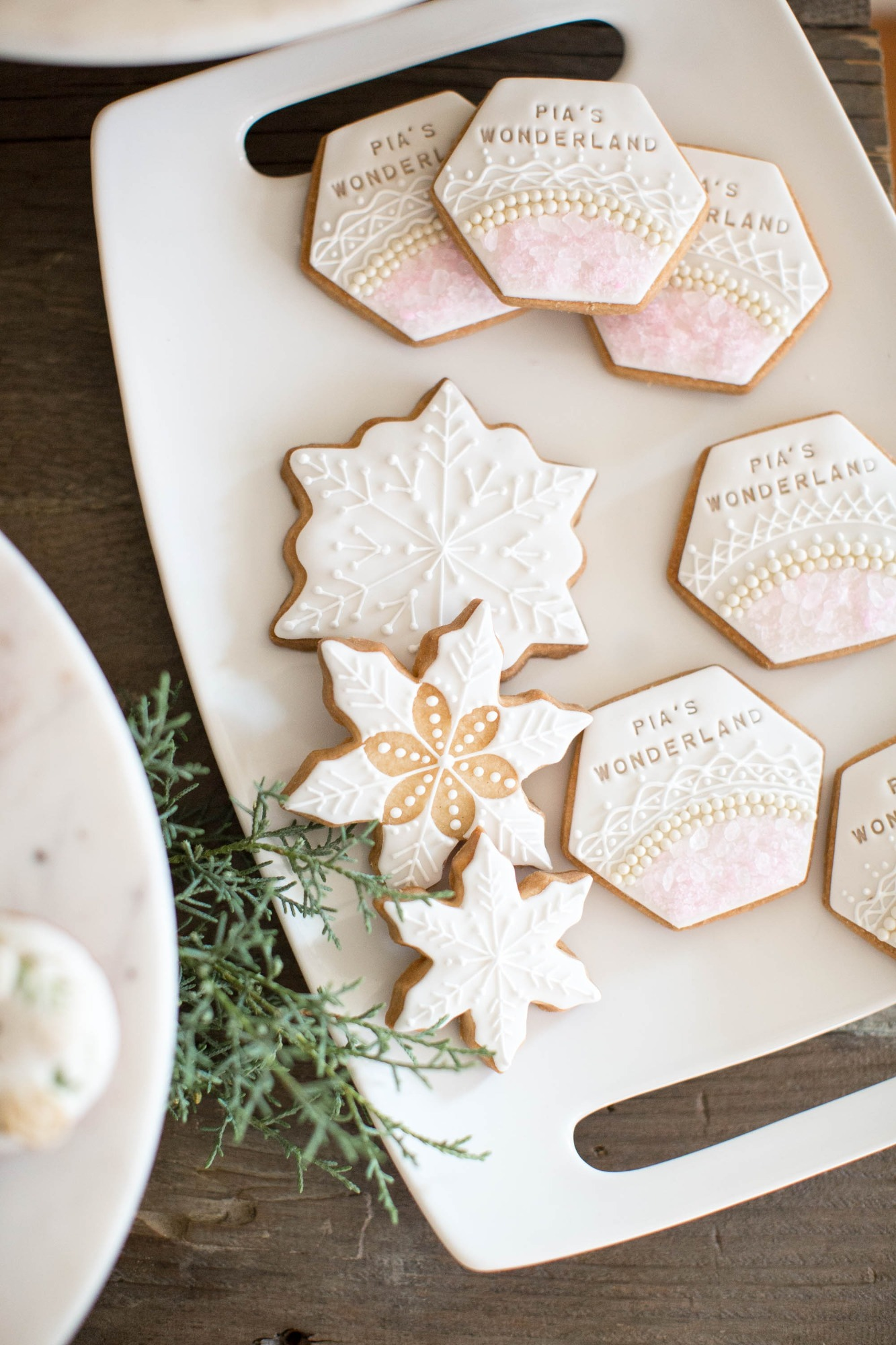 Snowflake Sugar Cookies from Snowy Birthday Soiree Styled by Deets & Things | Black Twine
