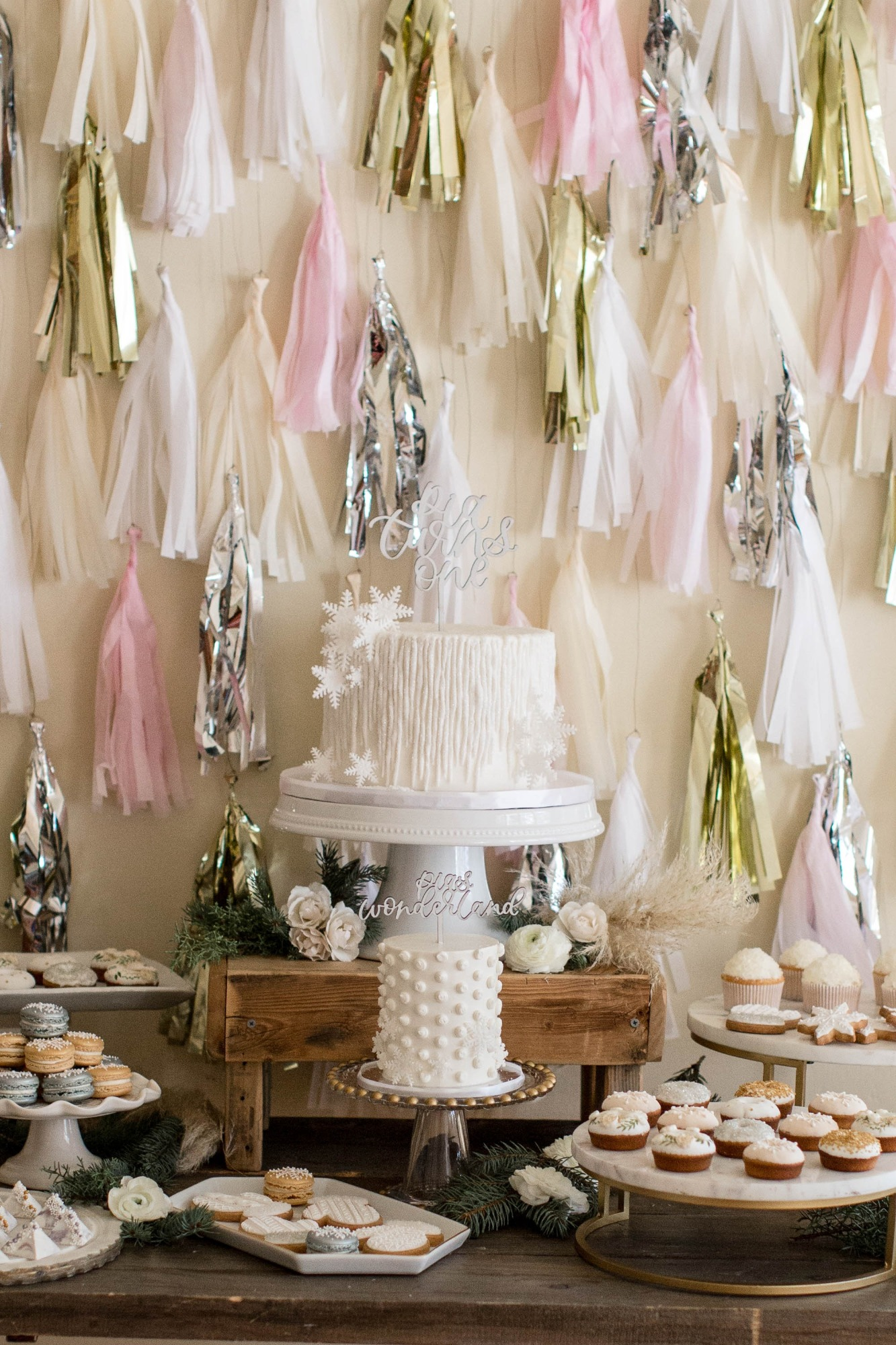 Custom Tassel Garland Backdrop by One Stylish Party