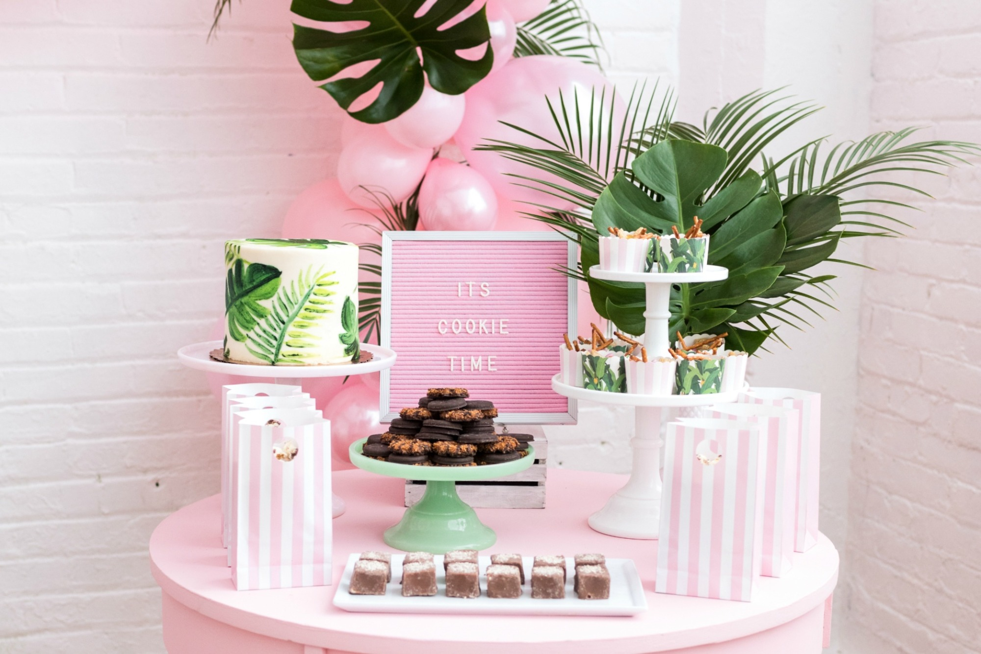 Dessert Table from Troop Beverly Hills Glamping Party Styled by One Stylish Party | Black Twine