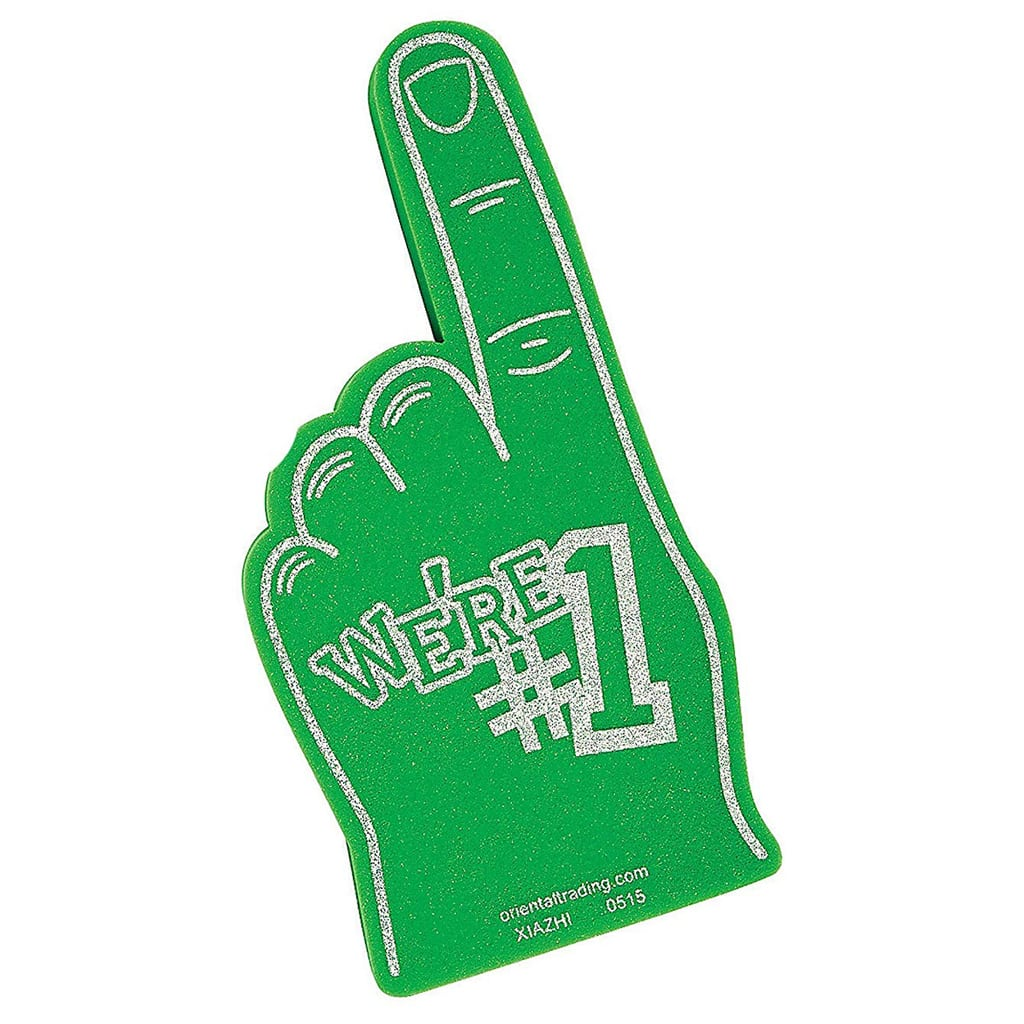 Foam Fingers for Football Party by BellaGrey Designs