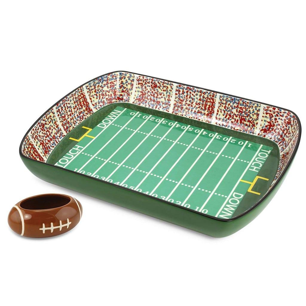 KOVOT Football Stadium Game Day Ceramic Chip and Dip Dish
