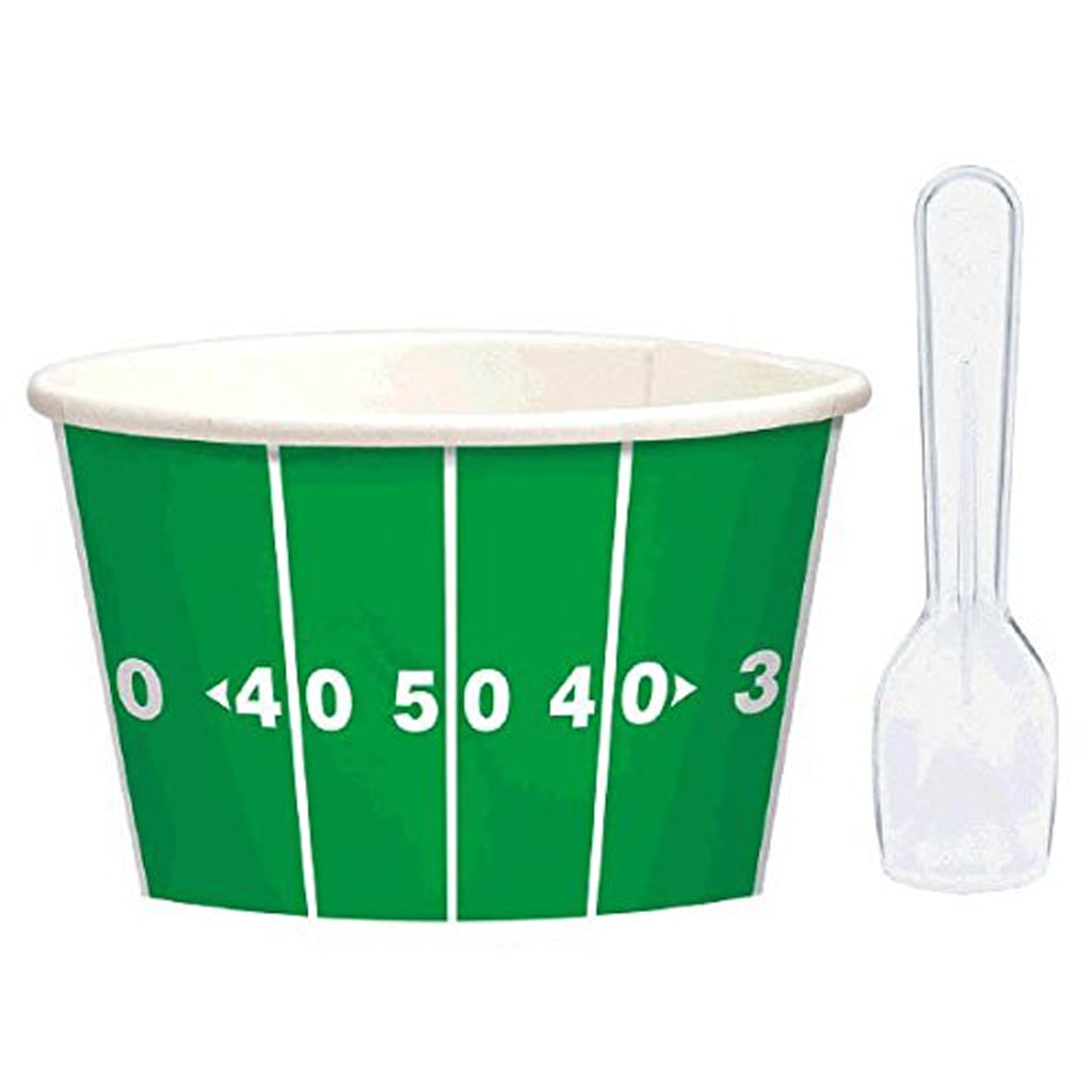Football snack bowls for Football Party by BellaGrey Designs