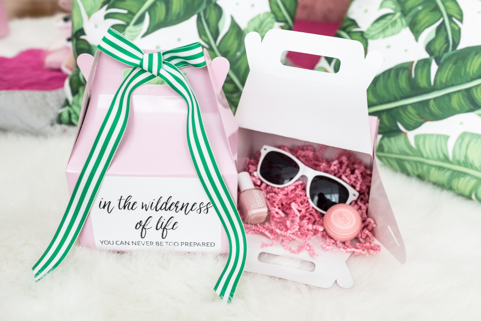 Favor Box from Troop Beverly Hills Glamping Party Styled by One Stylish Party | Black Twine