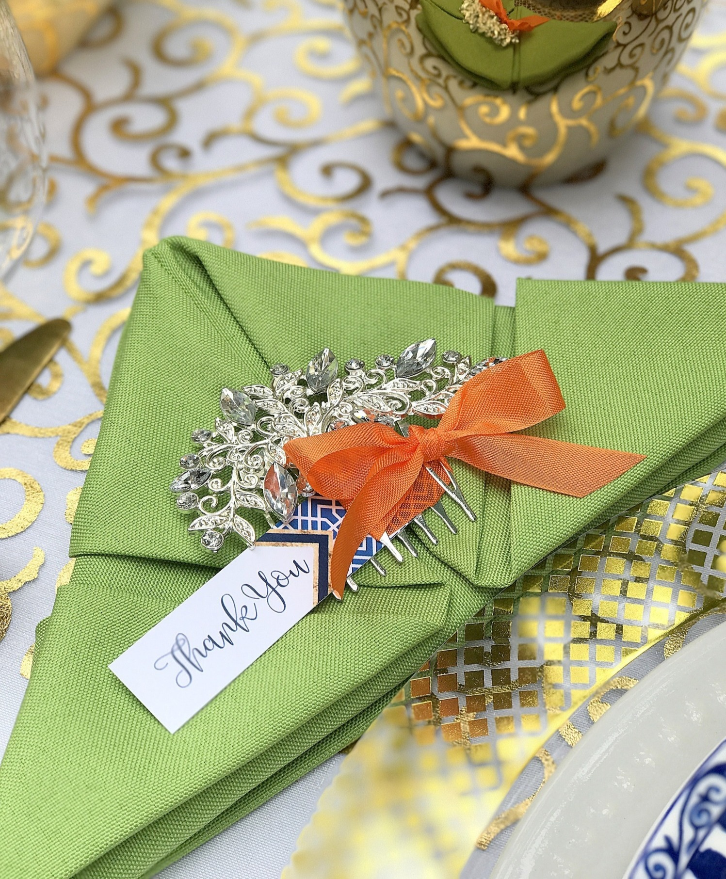 Favor from Chinoiserie Garden Bridal Shower Styled by A Lovely Design | Black Twine