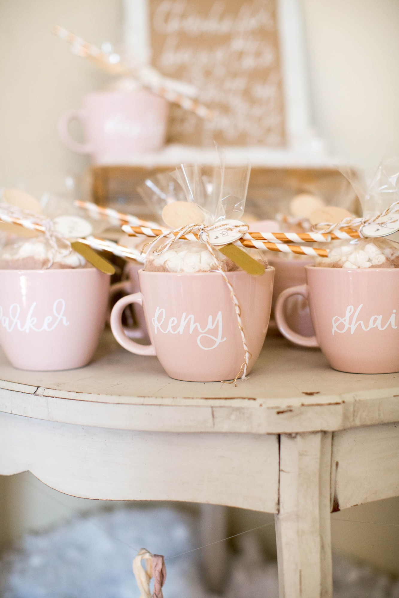 Favors from Snowy Birthday Soiree Styled by Deets & Things   Black Twine