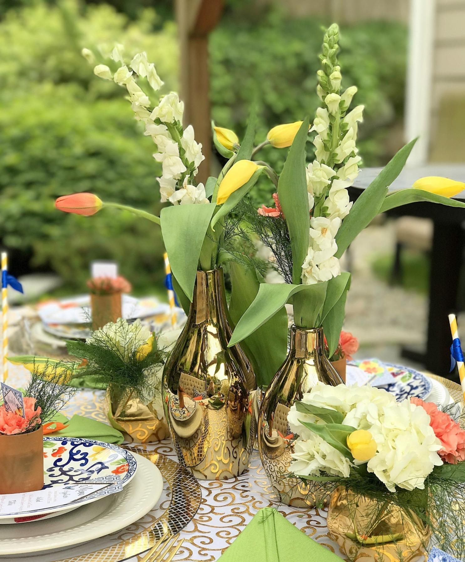 Flowers from Chinoiserie Garden Bridal Shower Styled by A Lovely Design | Black Twine