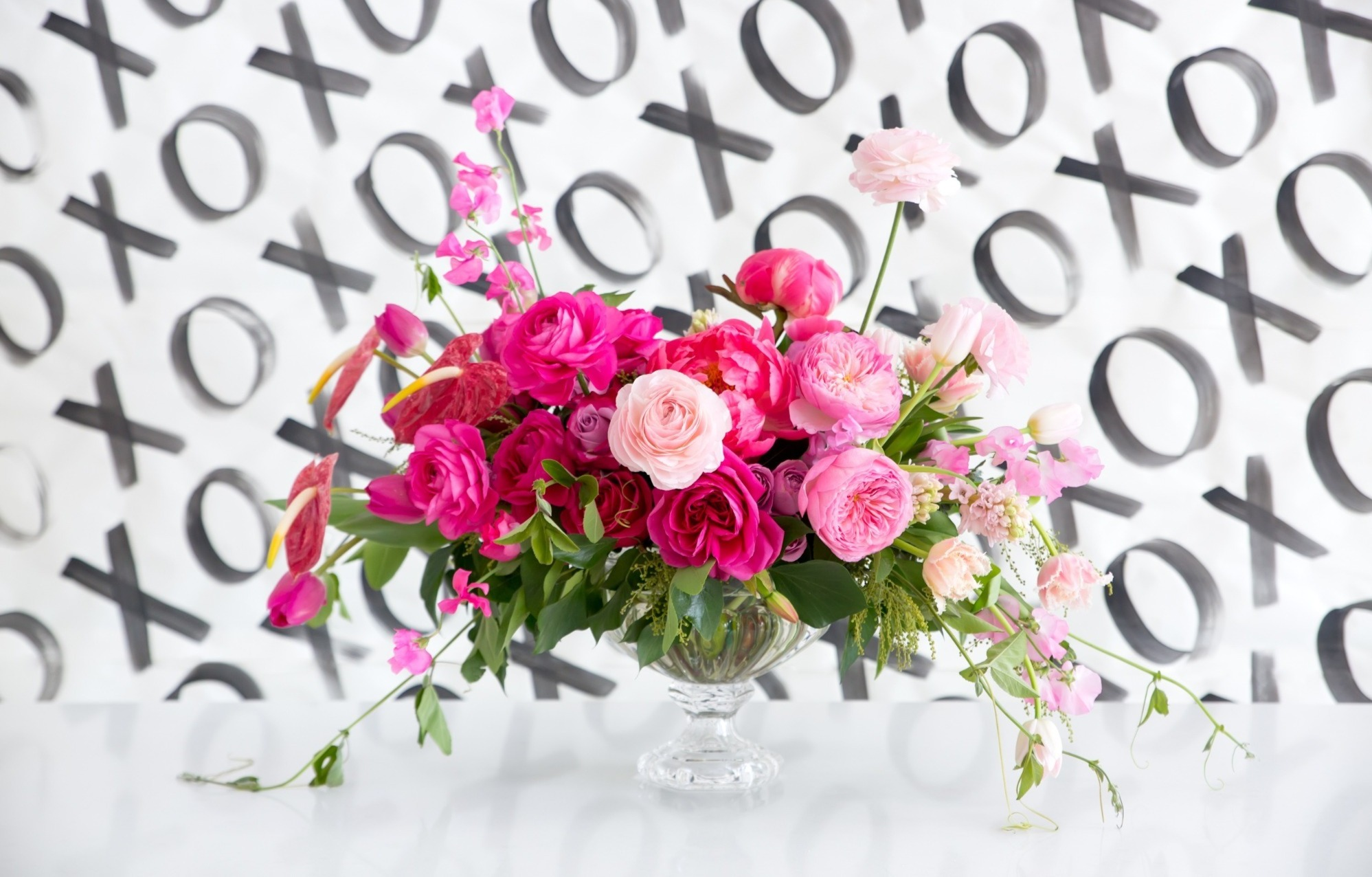 Flowers from Tickled Pink Valentine's Day Brunch styled by A Charming Fete | Black Twine