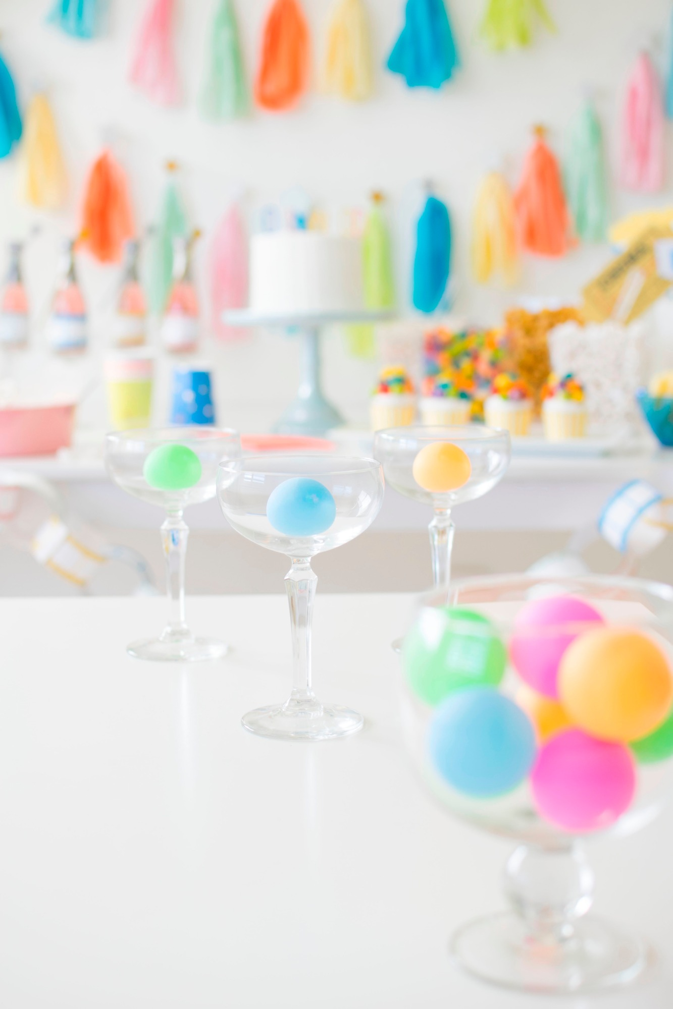 Champagne Pong Game | Hollywood Glamour Party Styled by Twinkle Twinkle Little Party | Black Twine