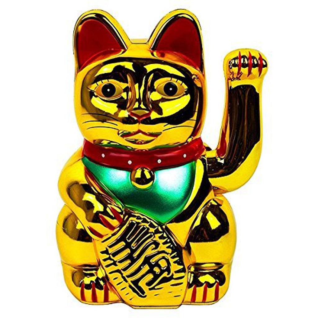 """Gold Lucky Cat 6"""""""