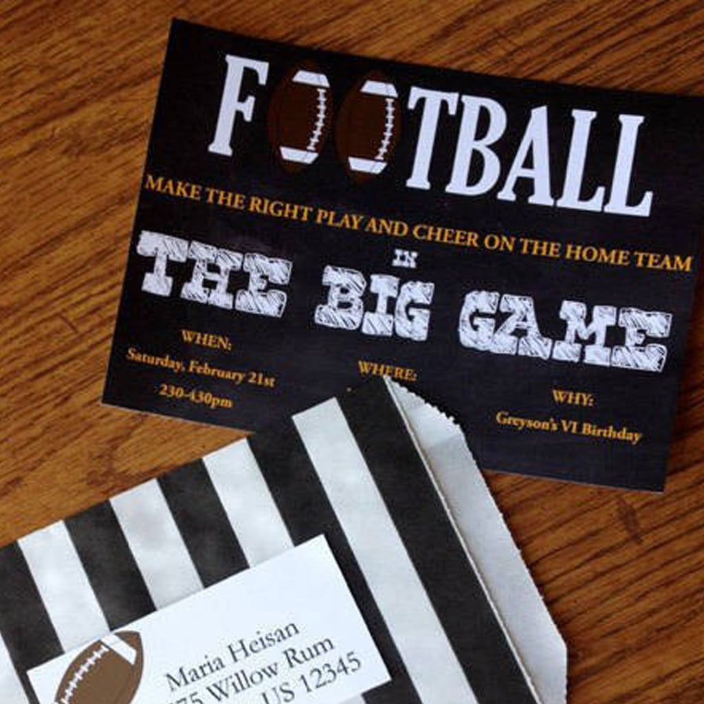 football birthday invitations by BellaGrey Designs
