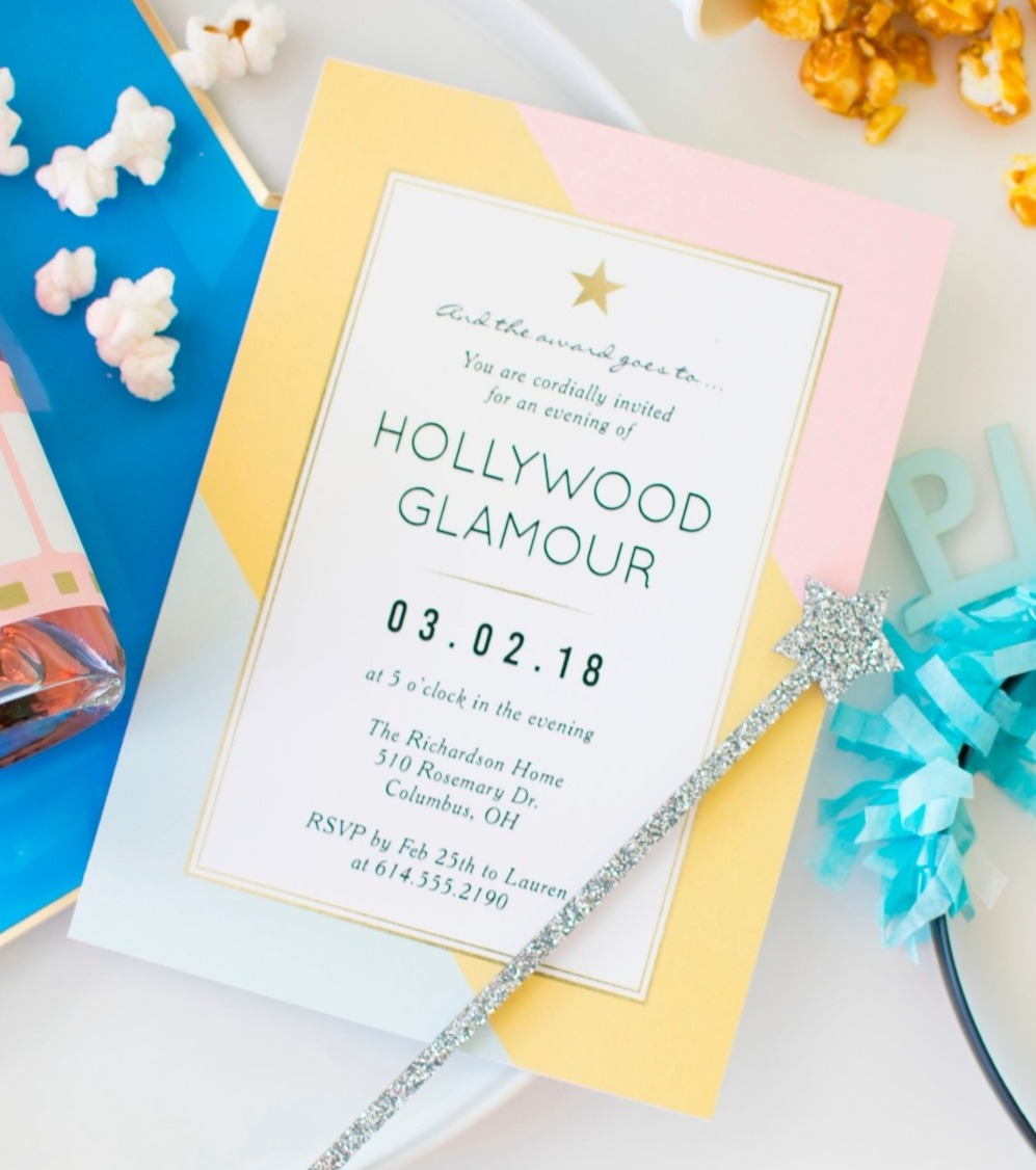 Award Viewing Oscar Party Movie Party Invitation by Berry Berry Sweet Shop