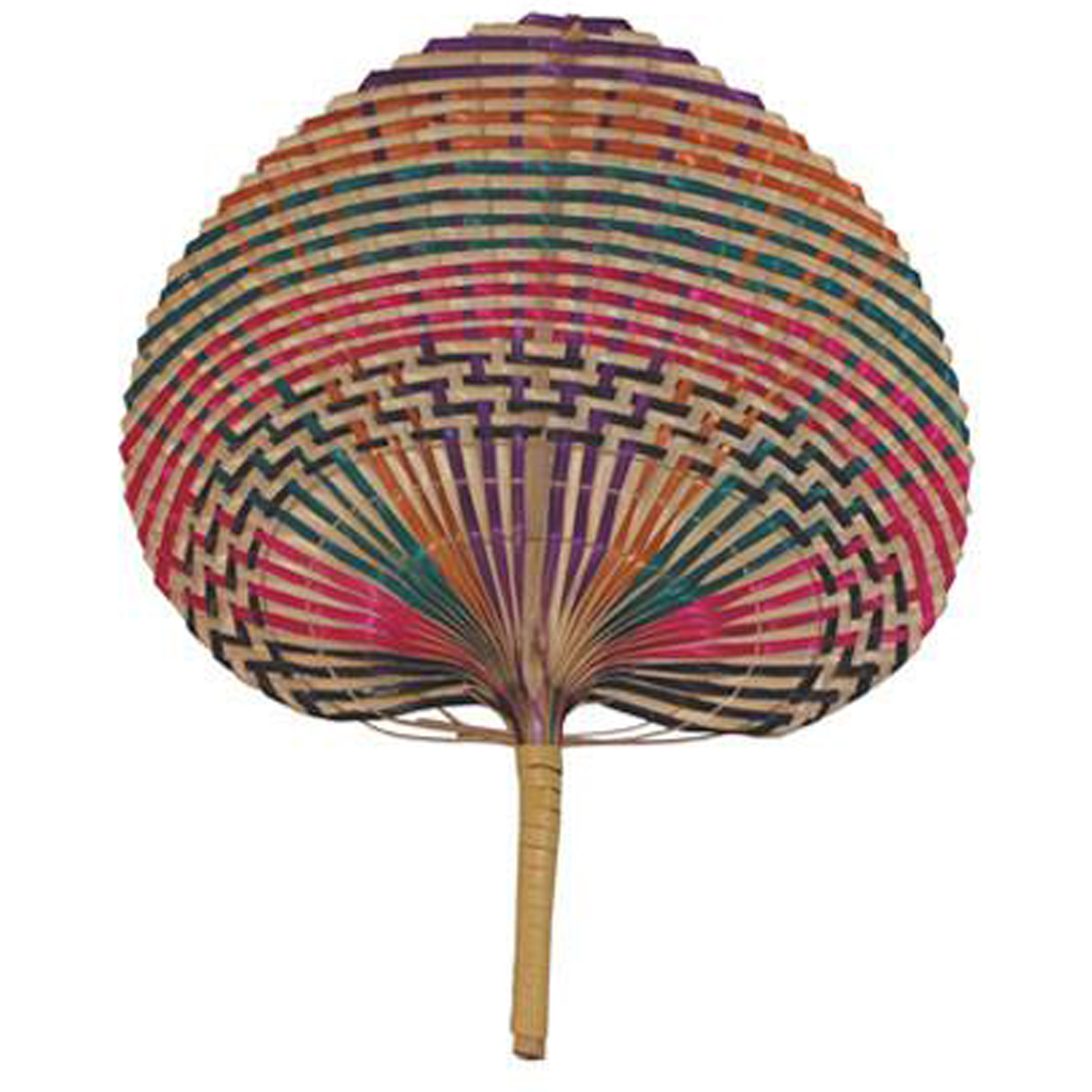 Multi-color Bamboo Fan from Pearl River Mart