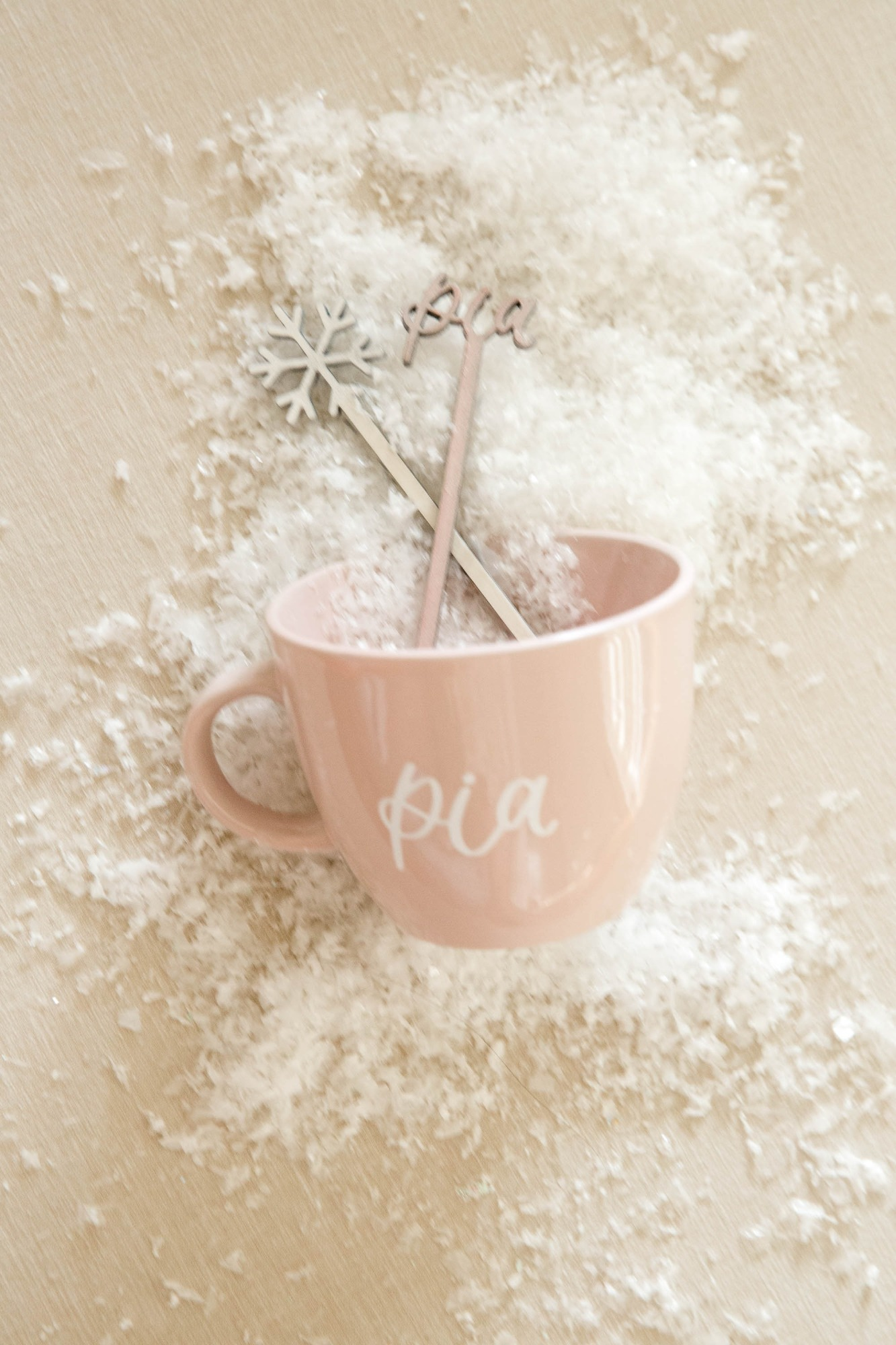 Mug & Drink Stirrers from Snowy Birthday Soiree Styled by Deets & Things | Black Twine