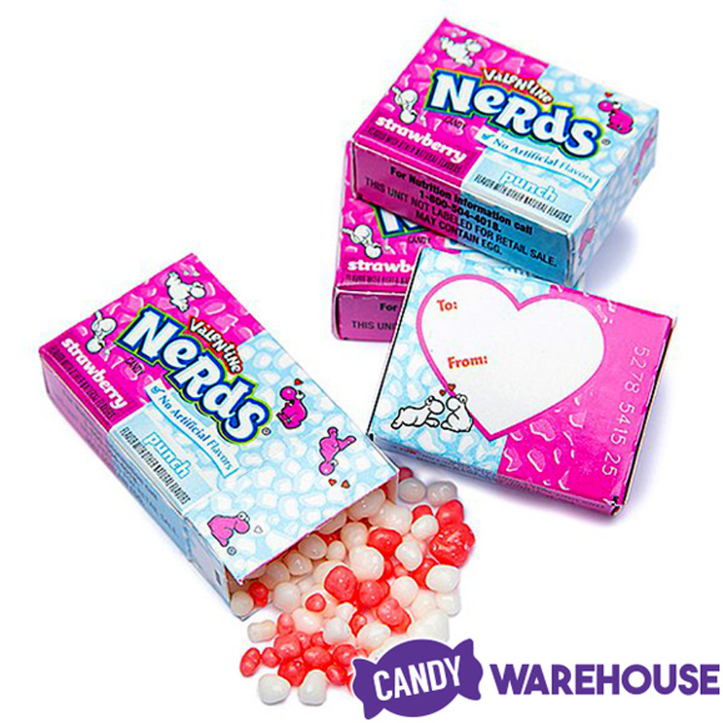Pink & White Nerds Candy Packs