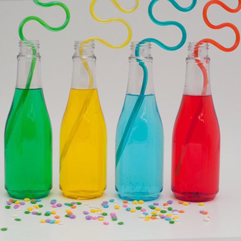 Plastic Soda Bottles with Lids
