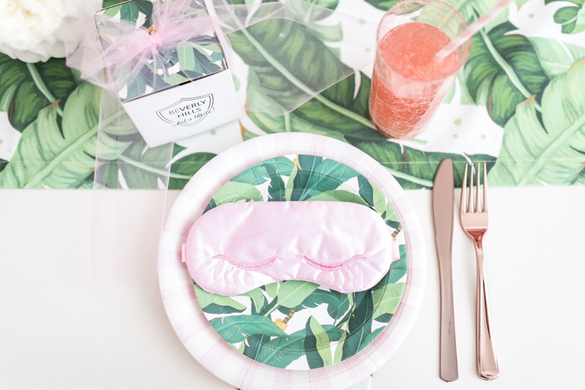Place Setting from Troop Beverly Hills Glamping Party Styled by One Stylish Party | Black Twine