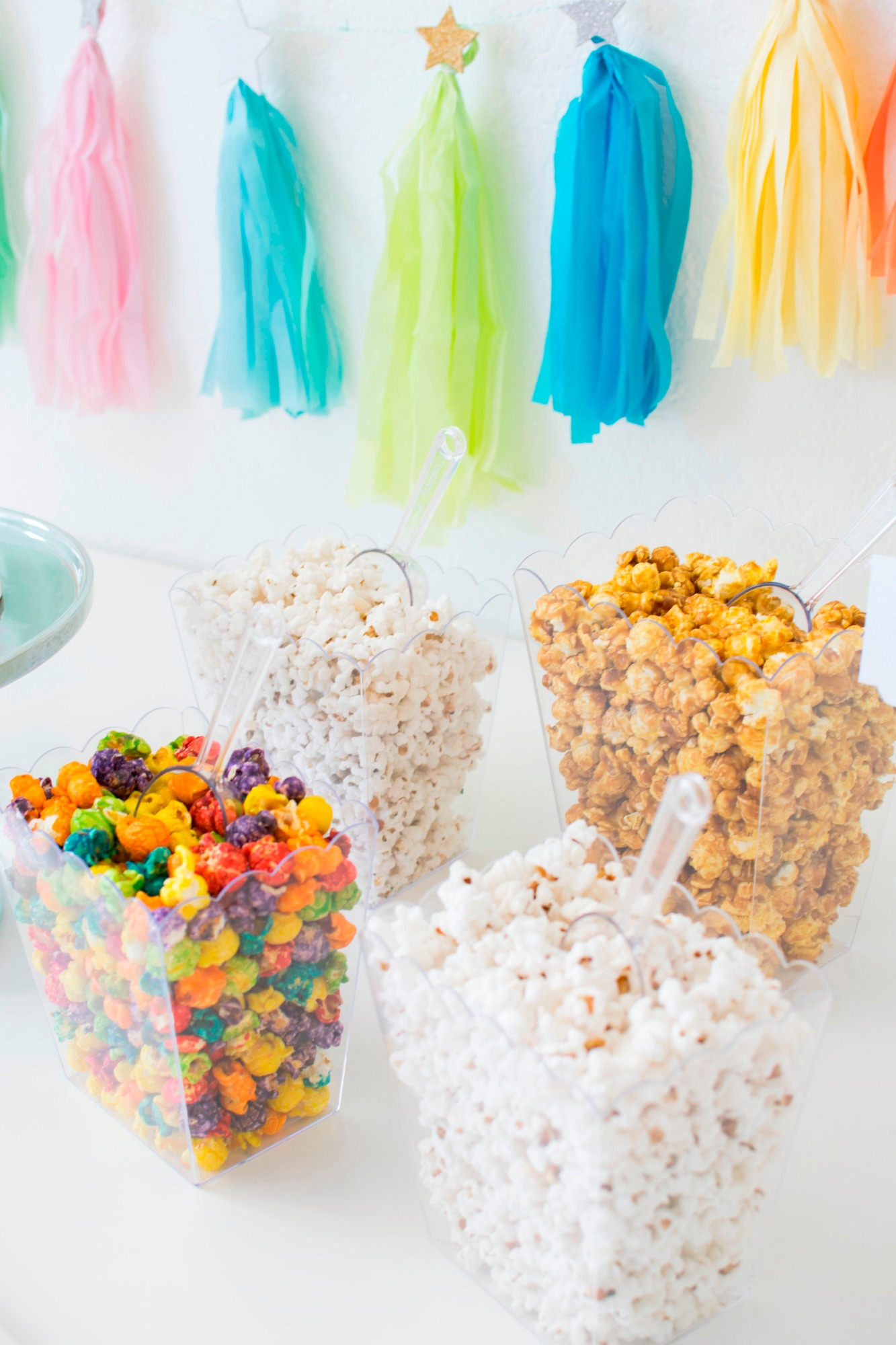 Popcorn Bar Hollywood Cake | Hollywood Glamour Party Styled by Twinkle Twinkle Little Party | Black Twine