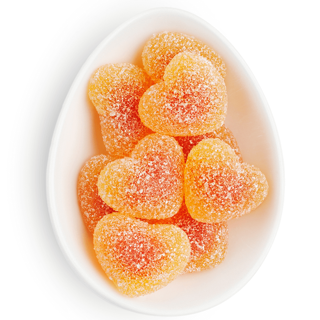 """Pucker Up"" Peach Bellini Gummies Candy Cube by Sugarfina"