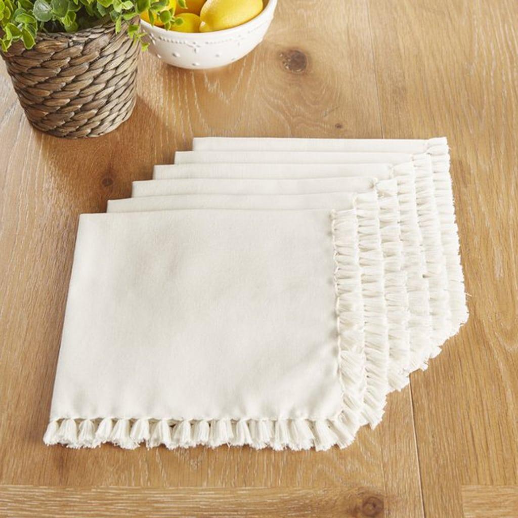 Robbinston Cotton Fringe Napkins by Birch Lane™