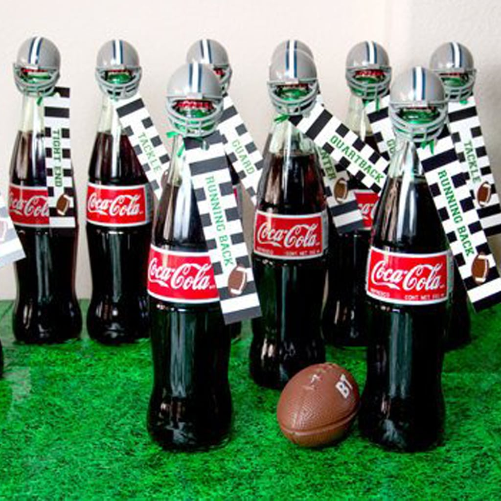 soda tags for Football Party by BellaGrey Designs