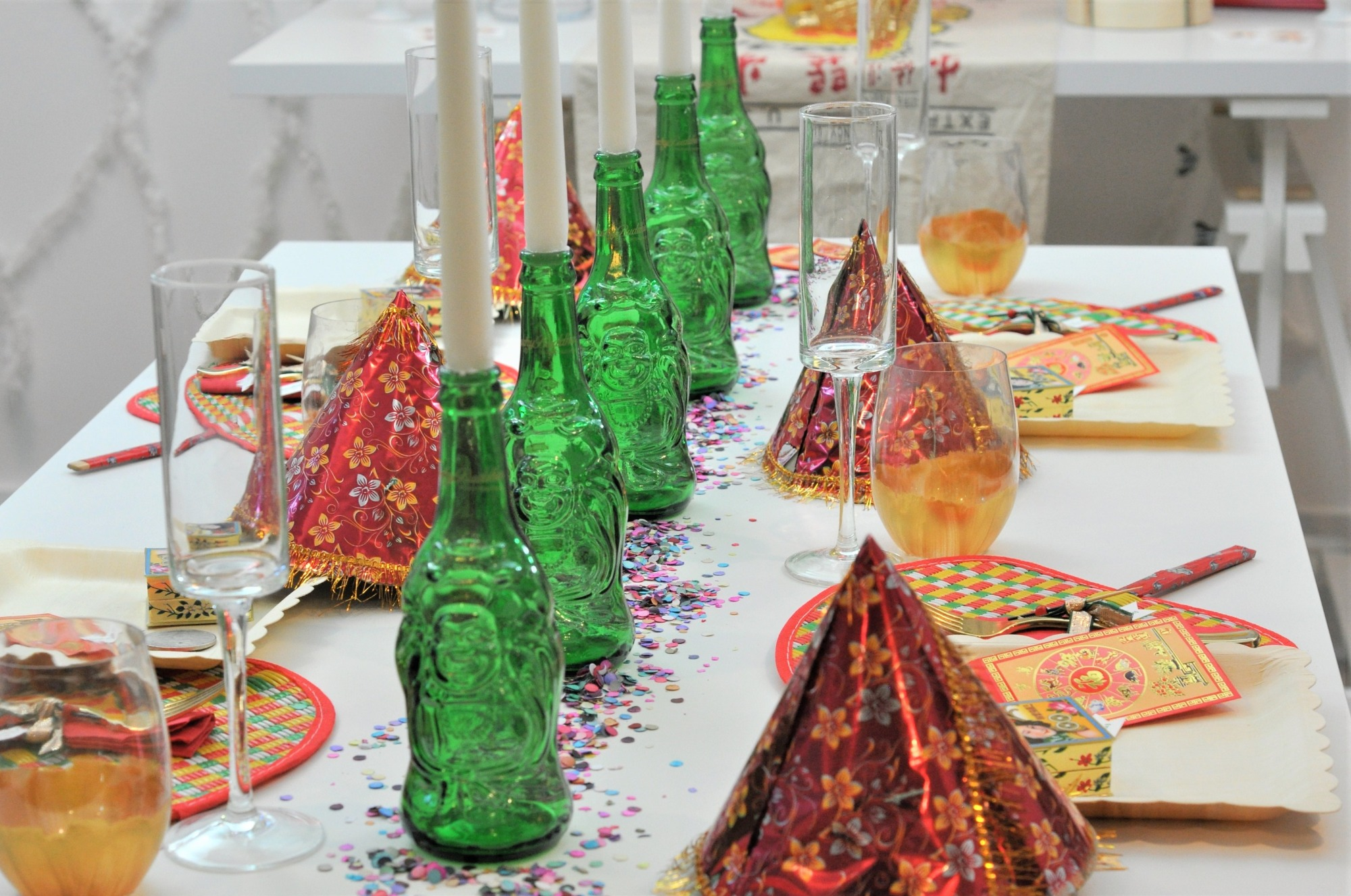 Tablescape from Lucky Cat Party by Fern & Maple   Black Twine