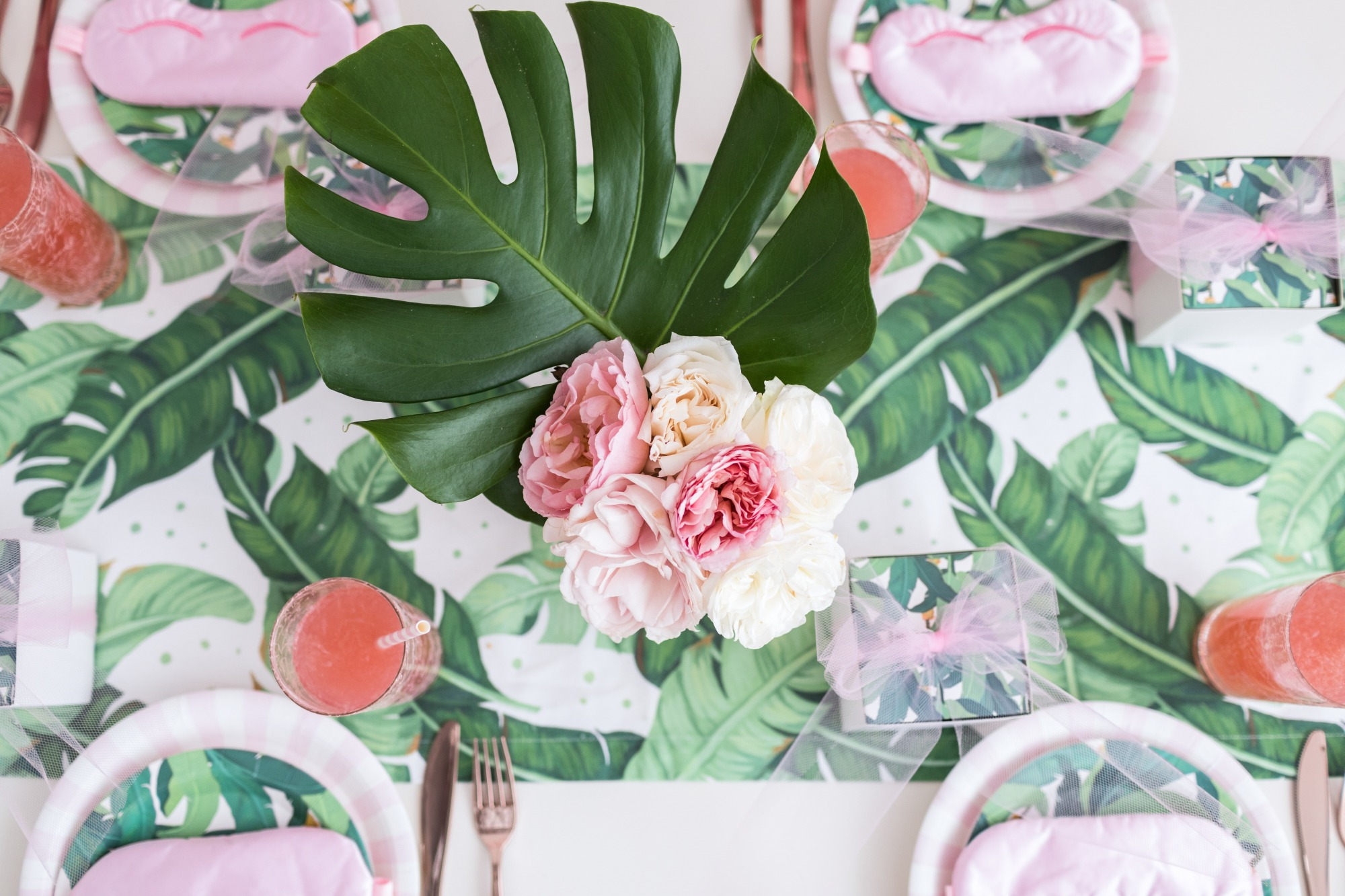 Tablescape from Troop Beverly Hills Glamping Party Styled by One Stylish Party | Black Twine