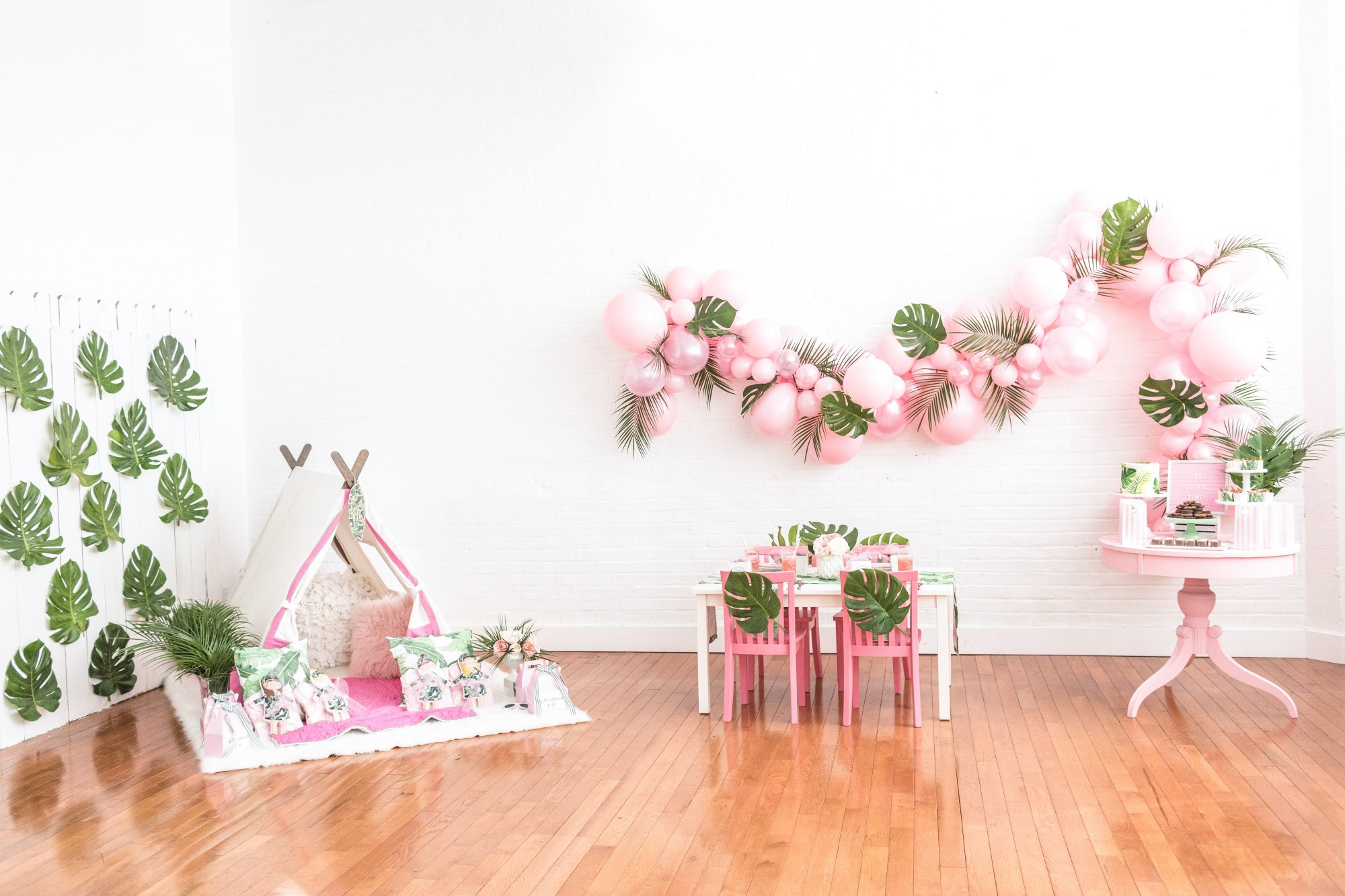 Party Set-Up from Troop Beverly Hills Glamping Party Styled by One Stylish Party   Black Twine